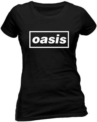 Oasis Tee Shack Ladies Logo Liam Noel Gallagher Rock Official Tee T-Shirt Womens Girls