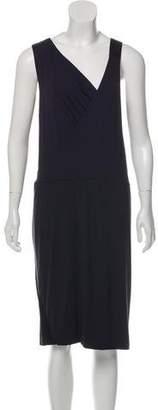 Zero Maria Cornejo Contrast Trim Knee-Length Dress