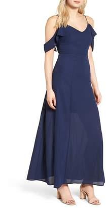 Dee Elly Cold Shoulder Maxi Dress