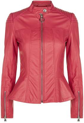 Pinko Leather Biker Jacket
