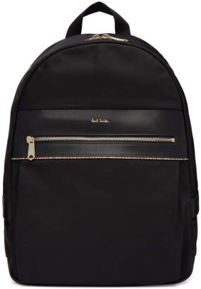 Paul Smith Black Multi Stripe Backpack