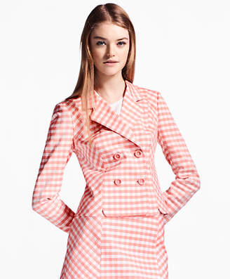 Brooks Brothers Gingham Double-Weave Jacket