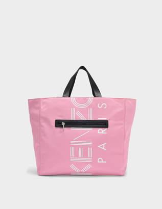 Kenzo Sport Tote Bag in Flamingo Pink Nylon