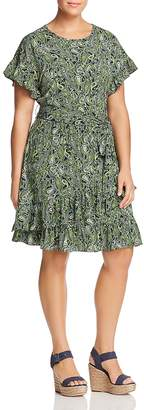 MICHAEL Michael Kors Ruffled Paisley-Print Dress