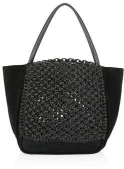 Proenza Schouler Cotton& Leather Macrame Tote