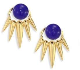 Lapis Nikos Koulis Spectrum Lapis& 18K Yellow Gold Ear Jacket& Stud Earrings Set