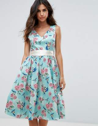 Hell Bunny 50's Floral Skater Dress