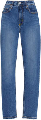 Nobody Denim True High-Rise Slim-Leg Cropped Jean