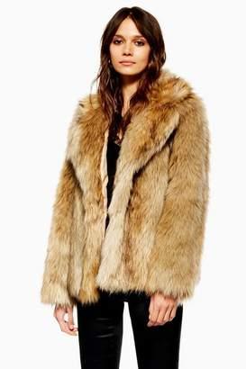 Topshop Vintage Faux Fur Coat