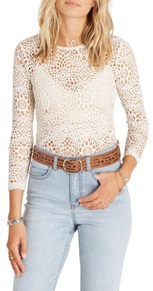 Women's Billabong Little White Lies Laser Cut Shirt $59.95 thestylecure.com