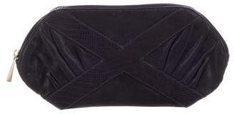 Rebecca Minkoff Pleated Embossed Leather Clutch