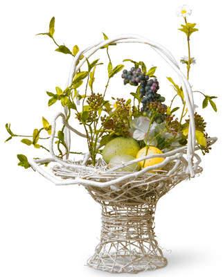 Co National Tree Floral Easter Basket with Egg