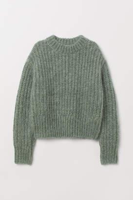 H&M Chunky-knit Wool Sweater - Green