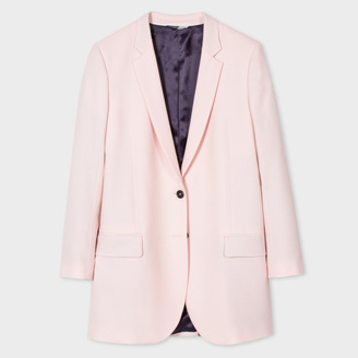 Women's Pale Pink Wool Blazer $650 thestylecure.com