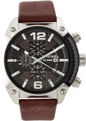 Diesel DZ4381 Silver-Tone & Brown Watch