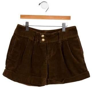 Ralph Lauren Girls' Pleated Corduroy Shorts