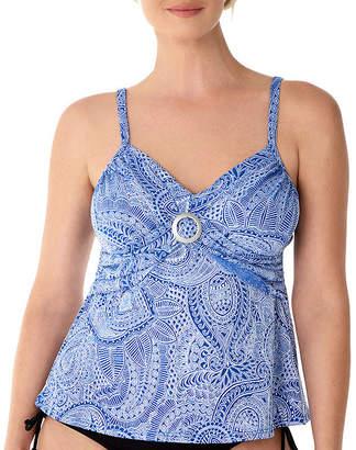 d631eabfd6 ST. JOHN'S BAY Paisley Tankini Swimsuit Top