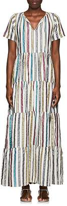 Ace&Jig Women's Daze Metallic-Striped Cotton-Blend Maxi Dress