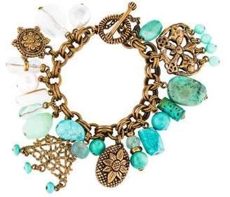 Stephen Dweck Multistone & Pearl Charm Bracelet