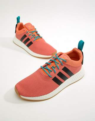 adidas NMD R2 Summer Boost Sneakers In Orange CQ3081
