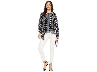 Vince Camuto Nairobi Graphic Poncho Women's Clothing