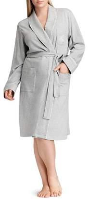 Ralph Lauren Plus Quilted Collar & Cuff Short Robe