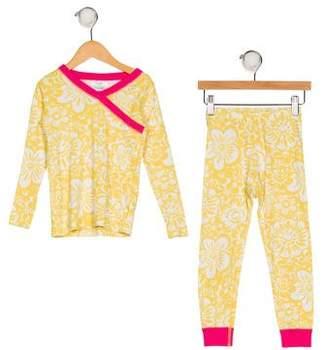 Hannah Anderson Girls' Printed Pajama Set