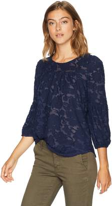 Lucky Brand Women's 3/4 Sleeve Peasant TOP, XL