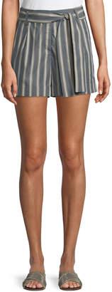 Lafayette 148 New York Greenpoint Belvedere Stripe City Shorts
