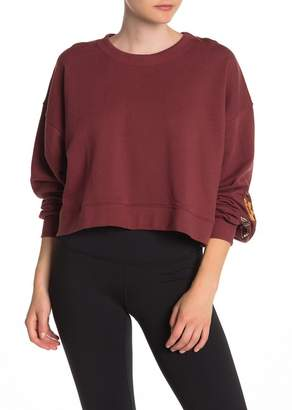 Spiritual Gangster Embroidered Sleeve Sweater