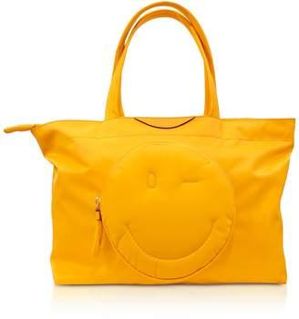 Anya Hindmarch Soleil Nylon Chubby Smiley E/w Tote Bag