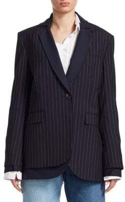 Monse Pinstripe Double Lapel Jacket