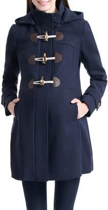 Kimi + Kai Paisley Duffle Toggle Coat