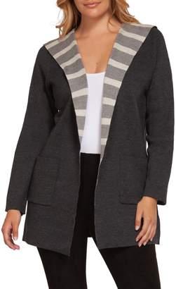 Dex Long Sleeve Roll Collar Cardigan