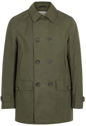 Oliver Spencer Clerkenwell Dark Green Cotton Coat