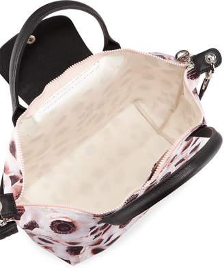 Longchamp Le Pliage Medium Anemone-Print Top-Handle Tote Bag