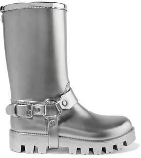 Dolce & Gabbana Metallic Rubber Rain Boots