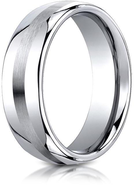 Benchmark Cobalt 7.5mm Comfort-Fit Satin-Finished Design Ring