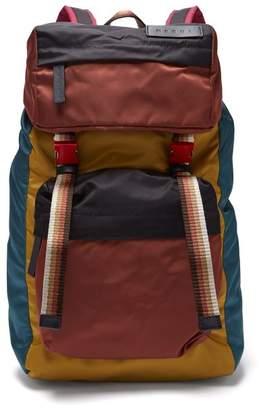 Marni Colour Block Panelled Shell Backpack - Mens - Multi