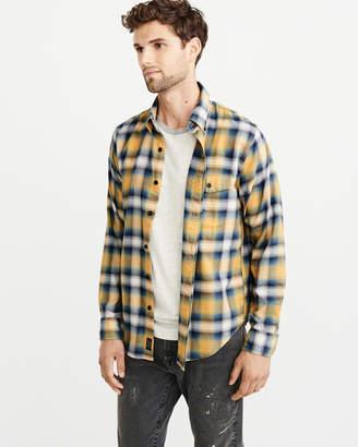 Abercrombie & Fitch Stretch Plaid Shirt