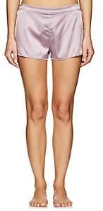 Fleur Du Mal Women's Silk Satin Shorts - Light, Pastel pink