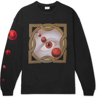 Dries Van Noten Oversized Embroidered Printed Loopback Cotton-Jersey Sweatshirt