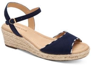 Charter Club Lucia Platform Wedge Sandals, Created for Macy's Women's Shoes