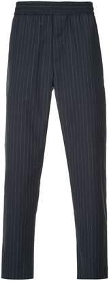 CK Calvin Klein pinstripe elasticated trousers