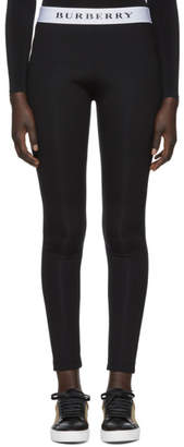 Burberry Black Logo Leggings