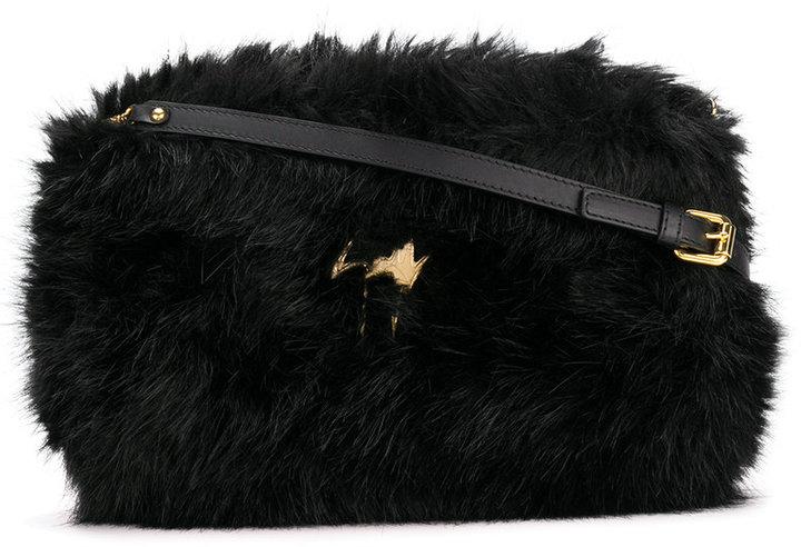 Giuseppe Zanotti Design Shearling fur shoulder bag