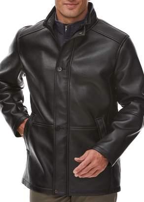 Rainforest Faux Shearling Lined Faux Leather Commuter Coat
