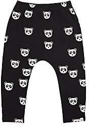 Oh Baby Oh Baby! Infants' NoHo Panda-Print Terry Jogger Pants - Black