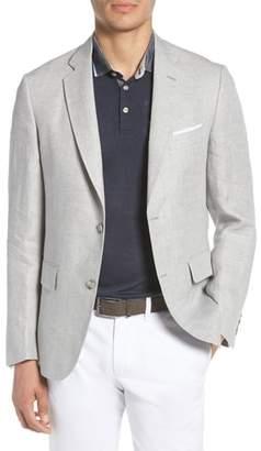 John W. Nordstrom R) Traditional Fit Herringbone Linen Sport Coat