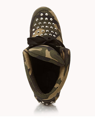 Forever 21 High-Voltage Camo Wedge Sneakers